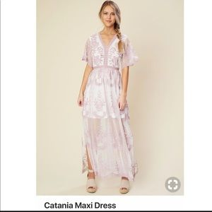 Altar'd State Embroidered maxi dress